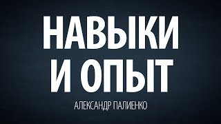 Навыки и опыт. Александр Палиенко.