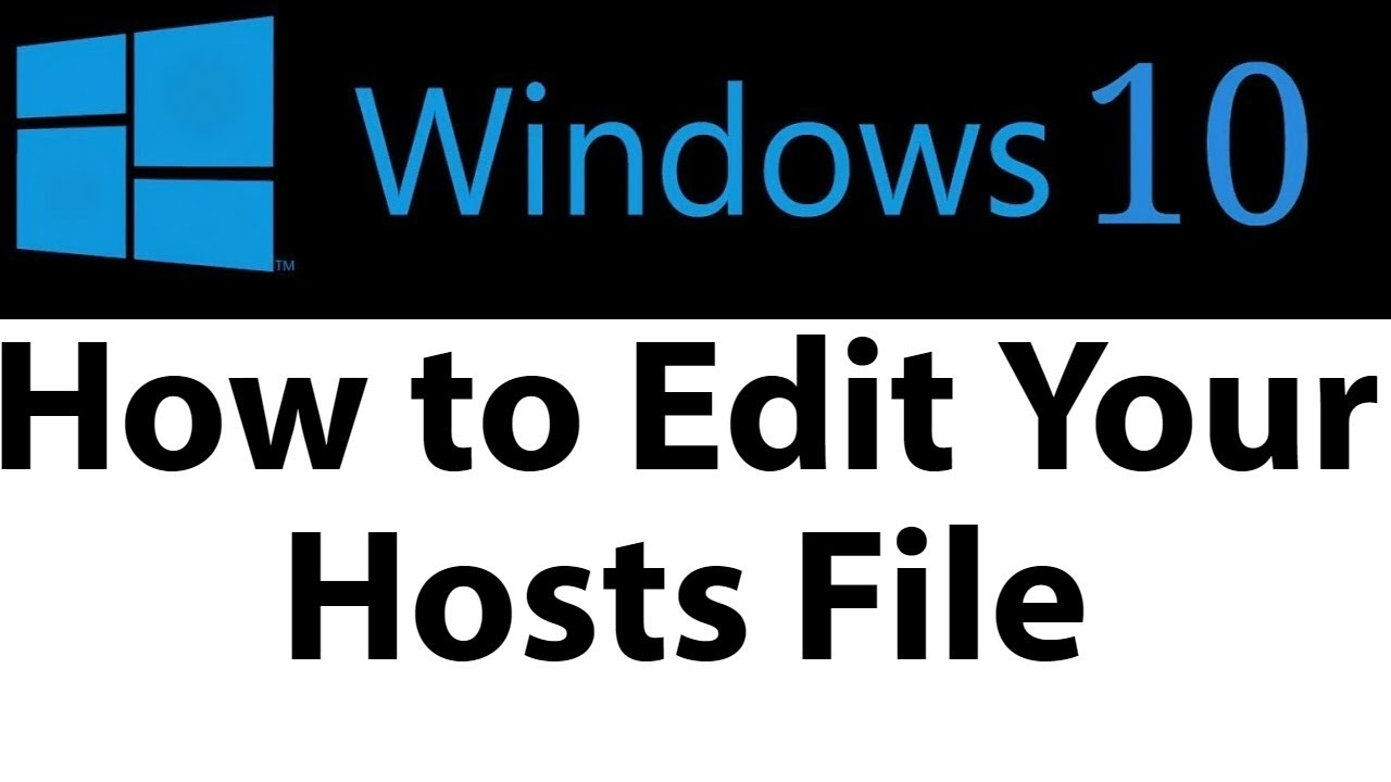 How to Edit Your Hosts File on Windows 10 AND BLOCK DIRECTIONS