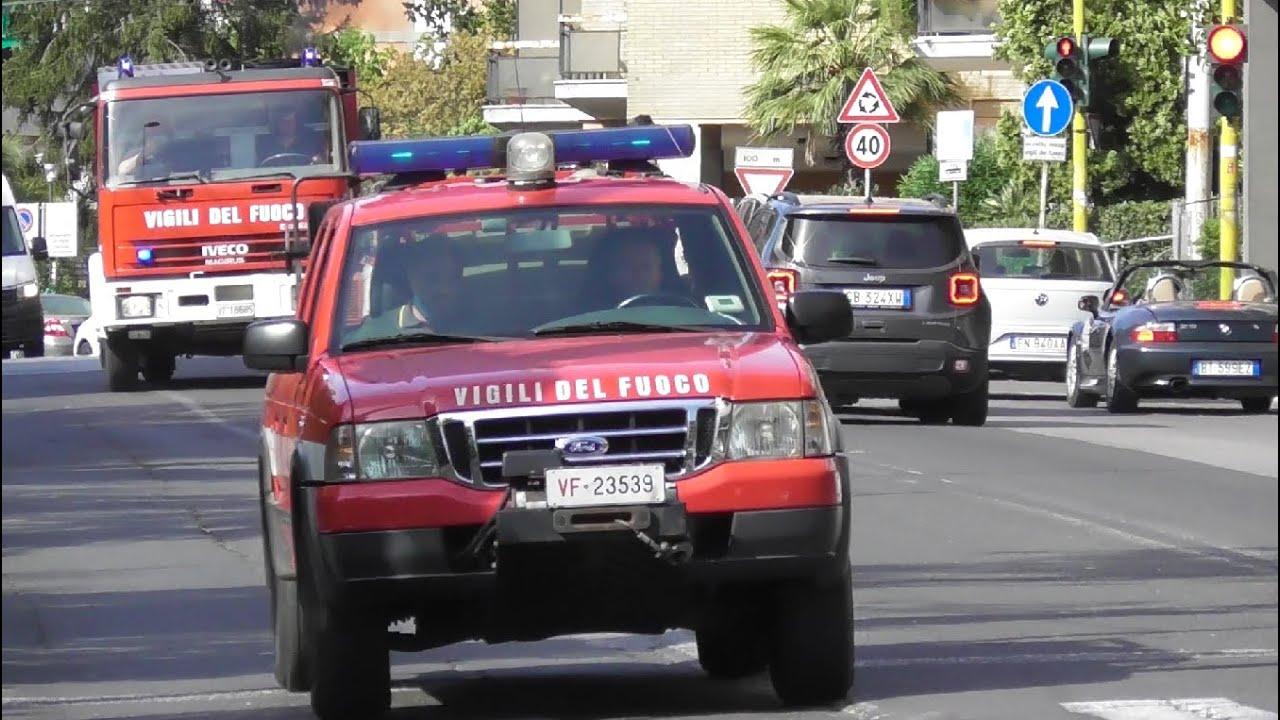 Ford Ranger AIB & APS Iveco EuroFire VVF di Ancona in Emergenza / Italian Fire Brigade in Emergency