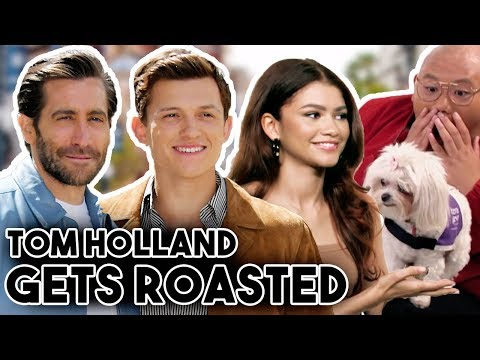 TOM HOLLAND GETS ROASTED BY ZENDAYA AND JAKE GYLLENGHAAL  FUNNY MOMENTS 2019 SPIDER-MAN