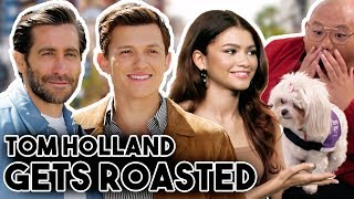 TOM HOLLAND GETS ROASTED BY ZENDAYA AND JAKE GYLLENGHAAL | FUNNY MOMENTS 2019 SPIDERMAN