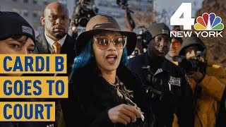 Cardi B Finds Out About Grammy Nominations During Court Appearance | News 4 New York