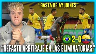 😡🇦🇷 ARGENTINO CALIENTE con 🇧🇷 BRASIL vs ECUADOR 🇪🇨 2-0 ELIMINATORIAS SUDAMERICANAS 2022 🏆 FECHA 7