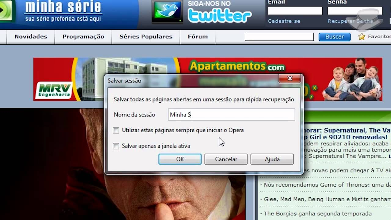 o navegador opera no baixaki