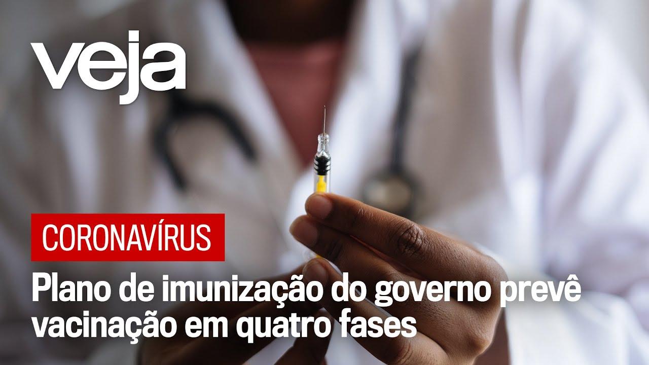 Plano de imunização prevê vacinação contra coronavírus em quatro fases
