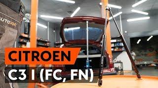Hvordan udskiftes bagklapsdæmper / gasdæmper bagklap on CITROEN C3 1 (FC, FN) [GUIDE AUTODOC]