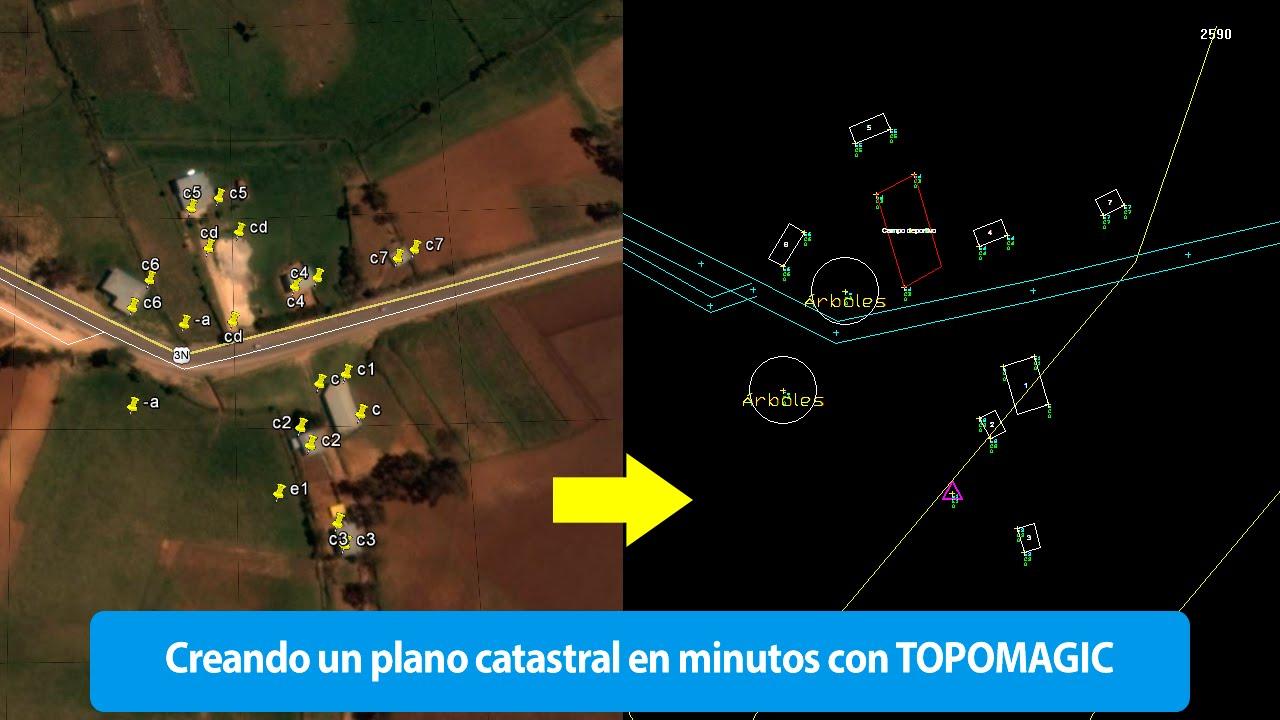 Crear plano catastral desde google earth estaci n total o for Crear plano 3d online