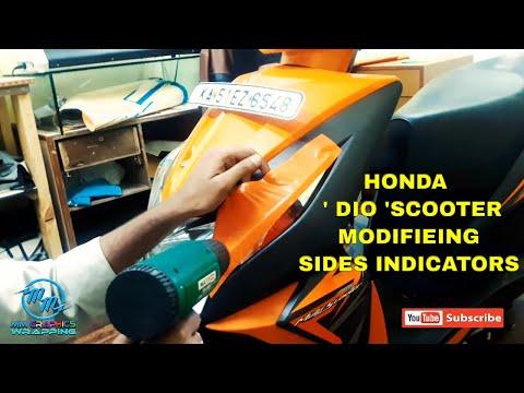 DIY Orange vinyl wrap for  Honda DIO scooter