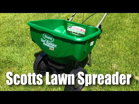 Scotts Turf Builder Edgeguard Deluxe Dlx Broadcast Lawn For 15 000 Sq Ft Spreader First Look