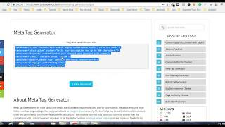 Meta Tag Generator - Generate SEO friendly meta tags