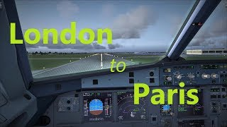 FSX FULL FLIGHT London to Paris