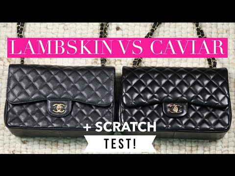 871b9a15a00 Chanel Lambskin vs Caviar + Scratch Test | Mel in Melbourne - YouTube