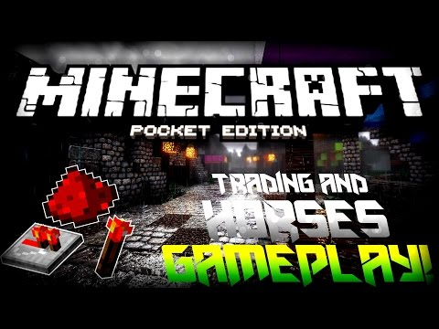 MCPE 0.13.0 UPDATE SHOWCASE!!! - Redstone, Horses, & MORE! | Minecraft Pocket Edition Concept Video