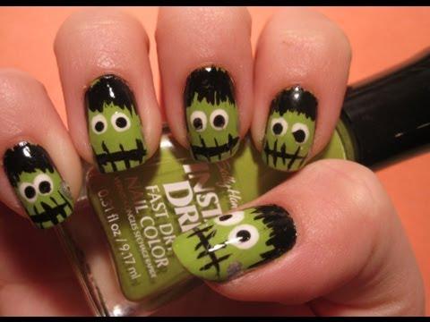 - Halloween Tutorial: Frankenstein Nail Art - YouTube