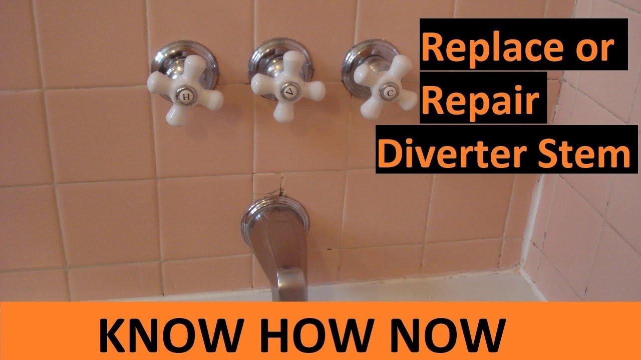 3 Handle Shower Tub Faucet Repair Replace Diverter Youtube