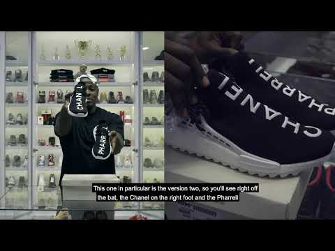 Chanel x Pharrell x Adidas Originals Hu NMD YouTube