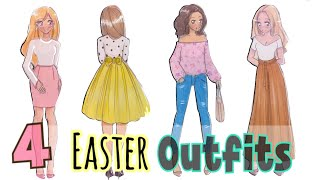 HOW TO DRAW - 4 EASTER Outfits!!! 💕🐰