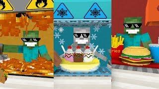 Monster School: WORK AT.. SEASON 1 - Minecraft Animation