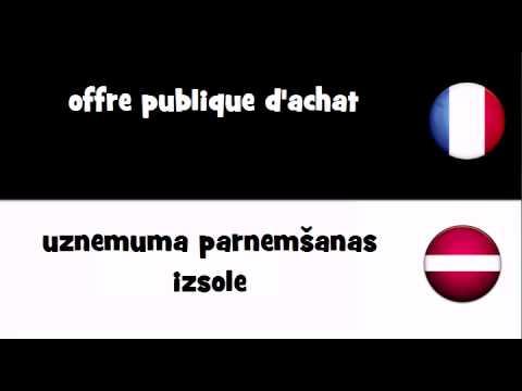 VOCABULAIRE EN 20 LANGUES = offre publique d'achat