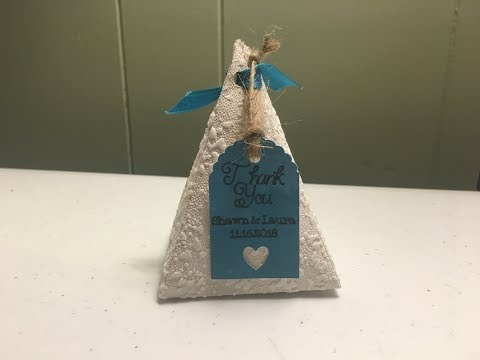 DIY CUTEST Wedding Triangle Favor Box made with Cricut Machine!!