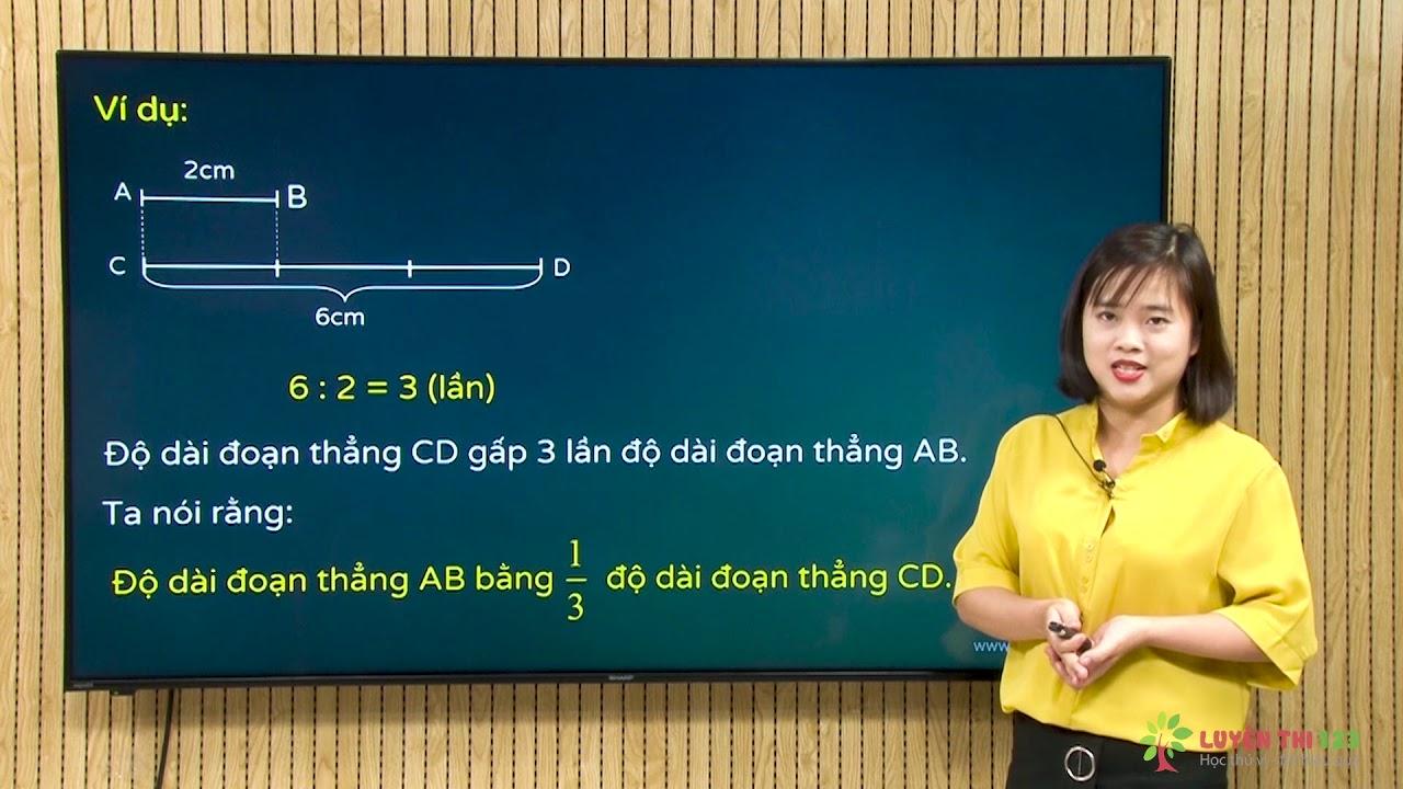 Toán lớp 3 – Bài 30: So sánh số bé bằng một phần mấy số lớn