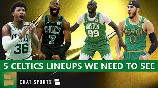 The boston celtics are expected to start kemba walker, marcus smart, jayson tatum, jaylen brown and newly signed tristan thompson when at full health, but he...