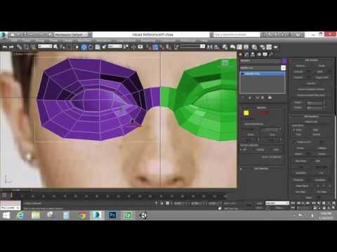 Edge Modeling a Head Part 1 (Autodesk 3ds Max)