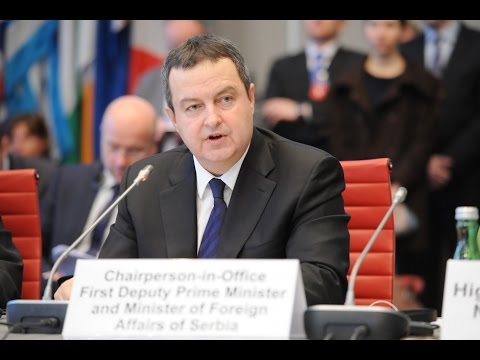 Speech by OSCE Chairperson in Office, Serbian Foreign Minister Ivica Dačić