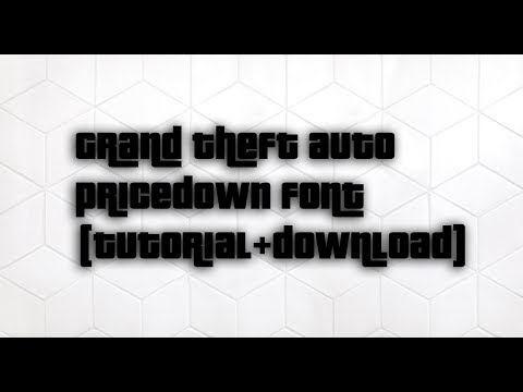How To Get The GTA (Pricedown) Font For Windows