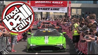 Modball Rally 2018 London Supercars start line CRAZINESS!