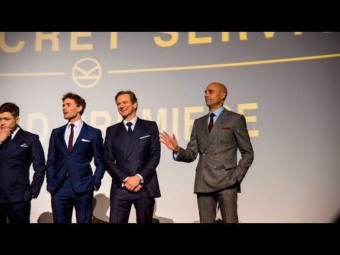 FunnyMark Strong was forgotten at backstage  Kingsman: The Secret Service London Premiere