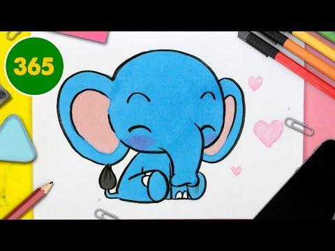 Comment Dessiner Un Elephant Kawaii Facile Et étape Par