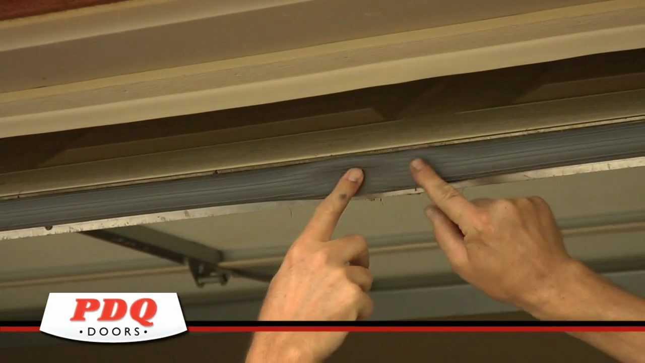 Garage Door Not Sealing Garage Door Weather Seal Options Pdq Doors Cincinnati Ohio Youtube