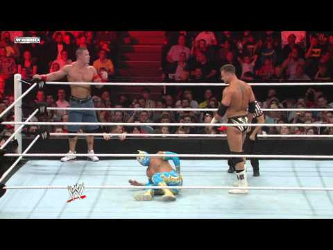 Raw: John Cena & Sin Cara vs. The Miz &...