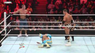 Raw: John Cena & Sin Cara vs. The Miz & Alex Riley.