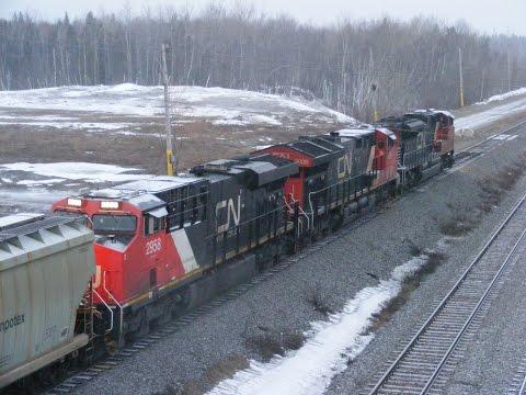 CN rail action around Moncton April 1 & 2 2017