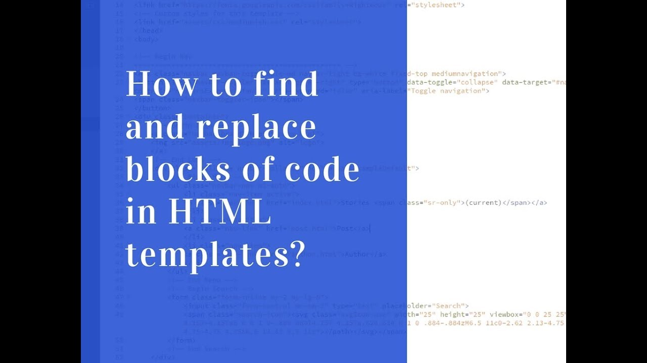 Find A Code >> How To Find And Replace Code In Html Files Wow Themes