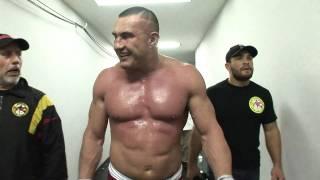 Jerome backstage after Ishii fight - Dynamite!!