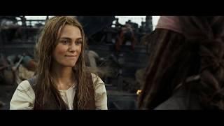 Пиратка. Поцелуй Джека Воробья и Элизабет Суонн