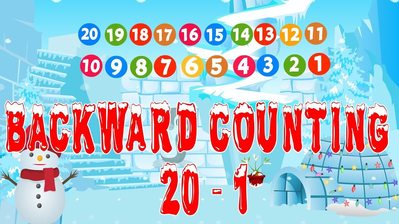 Backward Counting 20 to 1   Preschool Maths   Kindergarten number ...