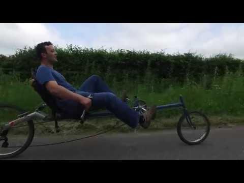 Home-made recumbent bicycling