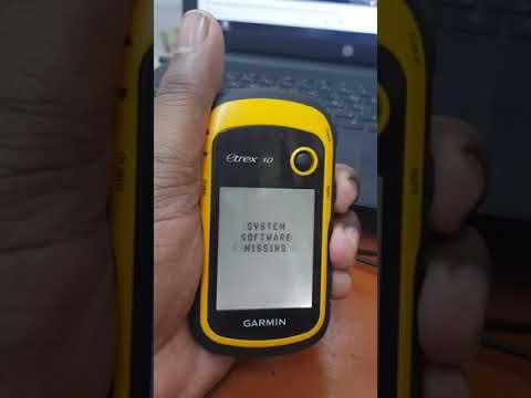 Garmin Etrex 10 System Software Missing