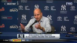 Brian Cashman discusses a busy trade deadline day for the Yankees