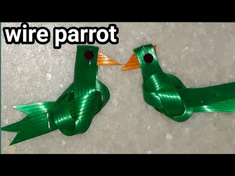 How To Make Wire Parrot |