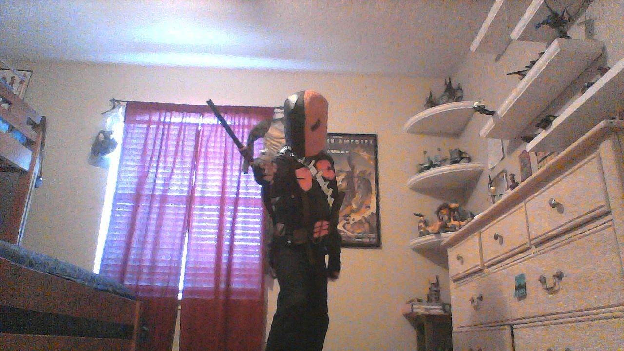 My Homemade Deathstroke Costume Showcase Youtube