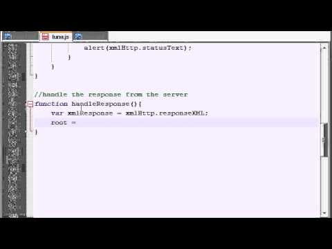 AJAX Tutorial - 32 - Getting the Data from the XML File