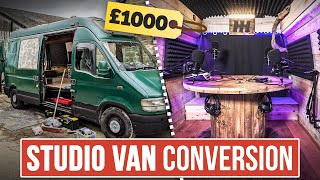£1000 Studio Van Conversion: Full Build