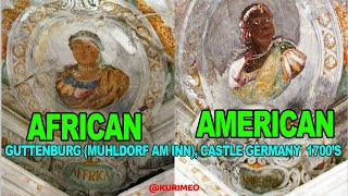 American Indian & African side by side, The People of the Four Continents