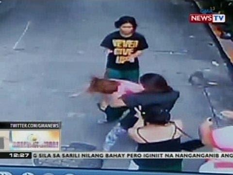 BT: Suntukan ng dalawang babae, nakunan ng CCTV
