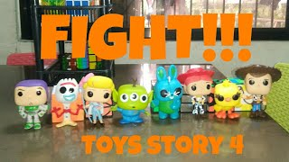 THE EPIC FIGHT!!(TOYS STORY 4)Stop Motion Video!